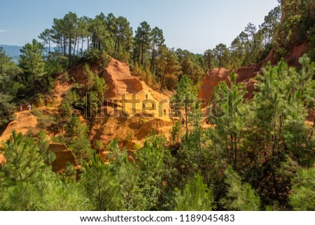 Red Rock formations at Roussillon, Provence, France #1189045483
