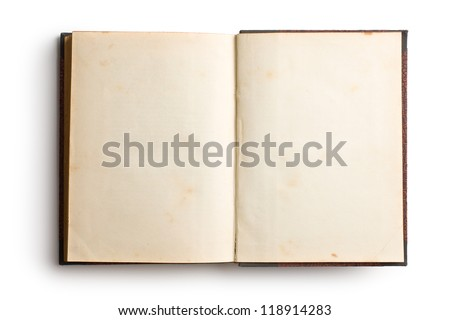 open old book on white background #118914283