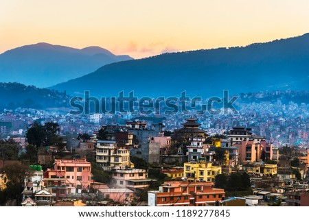Kathmandu Skyline, Kathmandu City, Kahmandu Viewpoint, Nepal #1189277845
