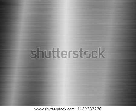 texture metal background of brushed steel plate #1189332220