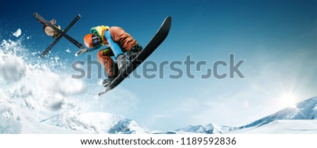 Skiing. Snowboarding. Extreme winter sports. #1189592836