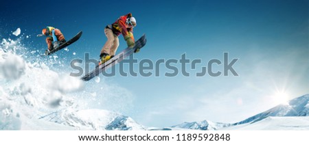 Skiing. Snowboarding. Extreme winter sports. #1189592848