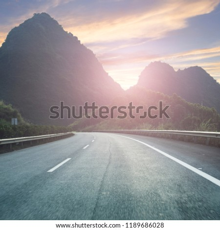 Urban landscape road #1189686028