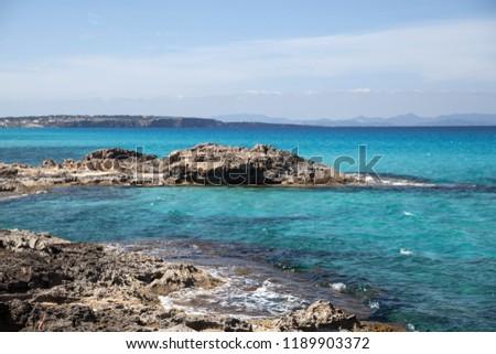 Sea in the island of Formentera #1189903372