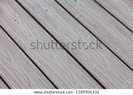 Plastic decking boards with wood decor structure #1189906102