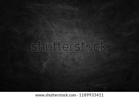 Old black background. Blackboard. Chalkboard texture. Concrete. Cement #1189933411