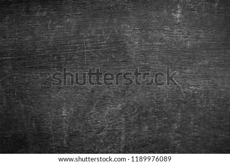 Blank front Real black chalkboard background texture in college concept back to school kid wallpaper for create white chalk text draw graphic. Empty old back wall education blackboard. black Friday. #1189976089