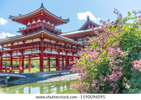 Beautiful Architecture Byodoin Temple,Uji, Kyoto Japan. #1190096095