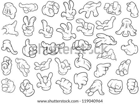 Hand Gestures - Vector Illustration
