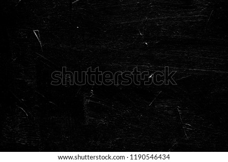 distressed rough abstract design on black background. scratched layer for photo editor design.
