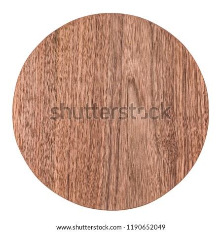 Handmade walnut round wooden pallet, wooden chopping board #1190652049