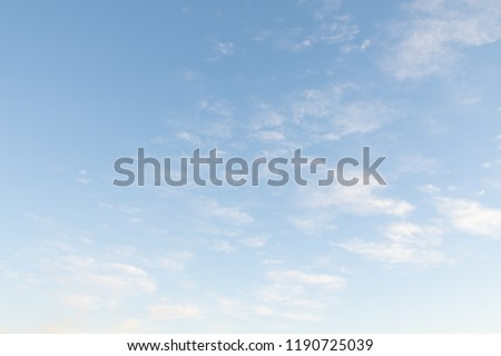 blue sky with white clouds, nature background #1190725039