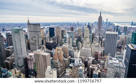New York Skyline during winter #1190756797