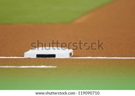 base on baseball field at stadium #119090710