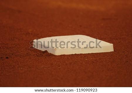 baseball base and dirt on field at stadium #119090923