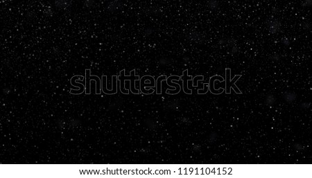 Snowfall on a black background. 3D rendering #1191104152