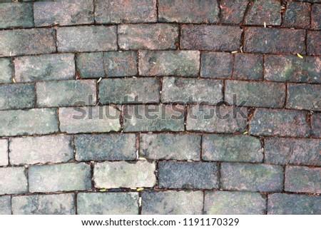 Brick brown strone wall wallpaper texture background #1191170329