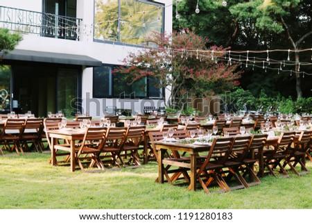table on the garden #1191280183