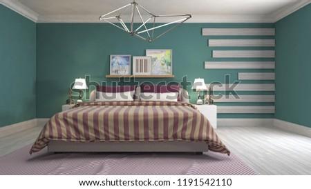 Bedroom interior. 3d illustration #1191542110