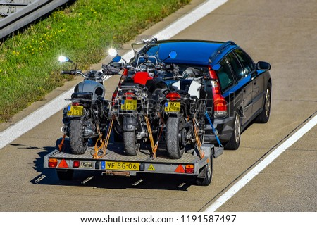 ULM,GERMANY-SEPTEMBER 26,2018: VOLVO  on the route A7. #1191587497