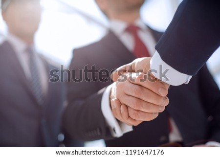 close up.handshake business partners #1191647176