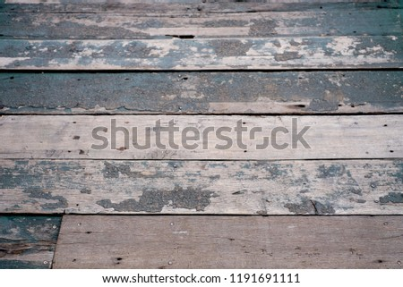 Old grunge wood floor. Old wood texture background. #1191691111