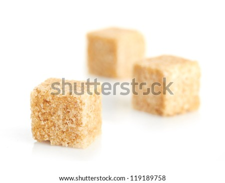 Brown cane sugar cubes #119189758