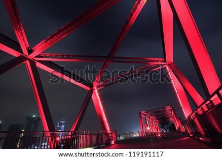 Steel structure bridge close-up night scene #119191117