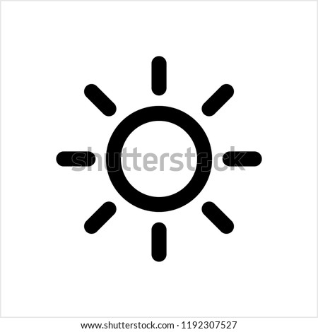 Brightness Icon, Intensity Setting Vector Art Illustration