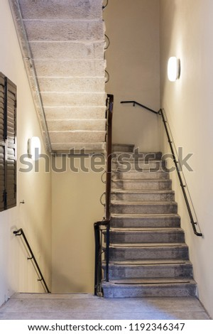 Old staircase in classic building #1192346347