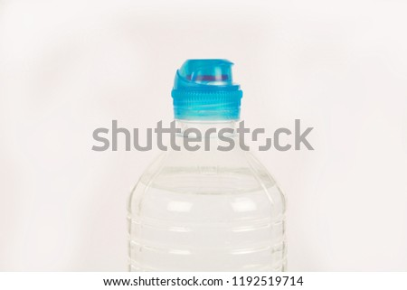 Plastic water bottle isolated in white background. #1192519714
