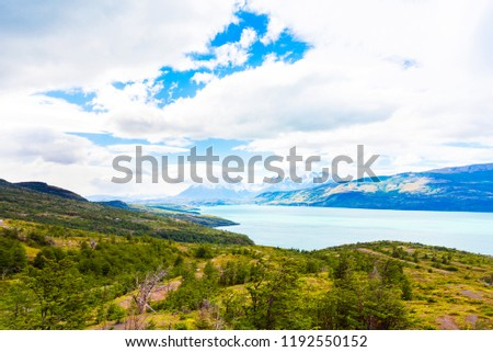 Lake Pehoe, Torres del Paine National Park, Patagonia, Chile, South America #1192550152