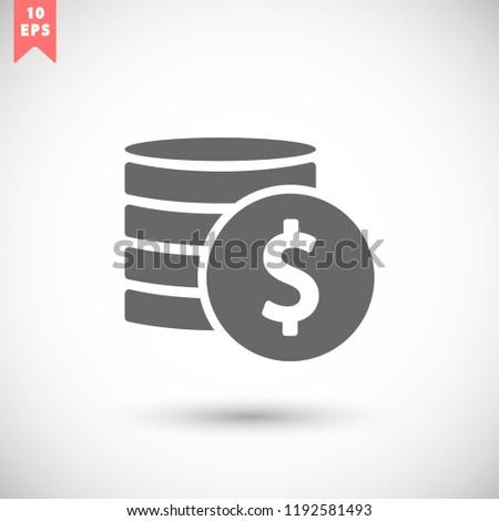 vector icon coin #1192581493