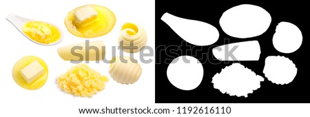 Butter, fresh and melted, clarified, in curls #1192616110