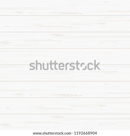 White wood texture for background. Vector illustration. #1192668904
