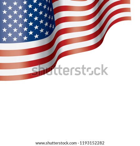 USA flag, vector illustration on a white background #1193152282