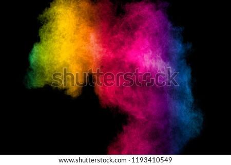 Colorful smoke on black background #1193410549