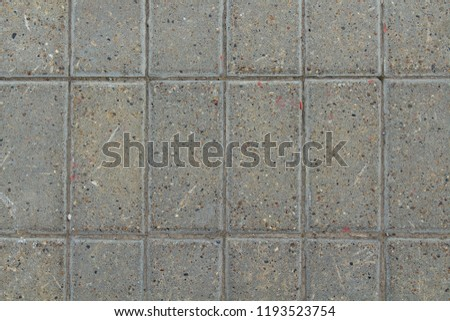 Rectangular paving slabs. View from above. Close-up. Background. Texture. #1193523754