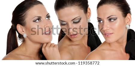 Closeup glamor portrait of a beautiful women #119358772