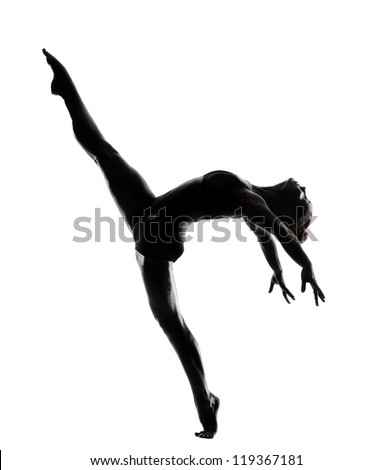 ballet dancer in black body paint series isolated on white background expressive artistic dance concept #119367181