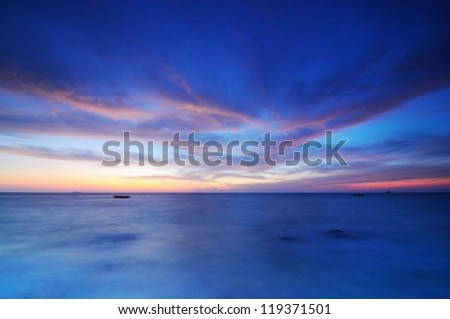 Twilight sky on the sea #119371501