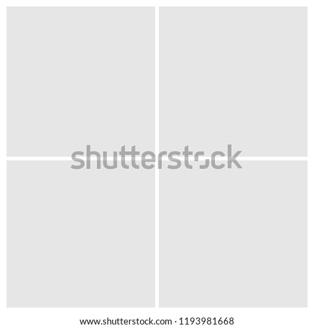 Frame for photo collage or picture vector illustration. Template frame for photo.  Layers grouped for easy editing illustration. For your design. #1193981668