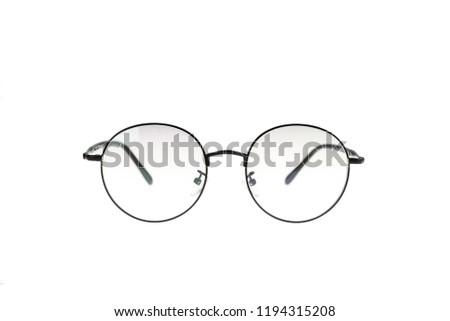 Circle Glasses isolated on white background #1194315208