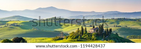 Beautiful spring landscape in Tuscany, Italy Royalty-Free Stock Photo #1194428437