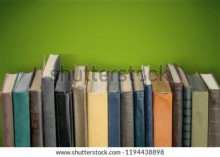 Colorful books collection, close-up view #1194438898