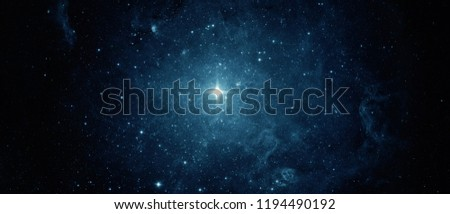 Beautiful night sky, star in the space. Collage on space, science and education items. Elements of this image furnished by NASA. #1194490192