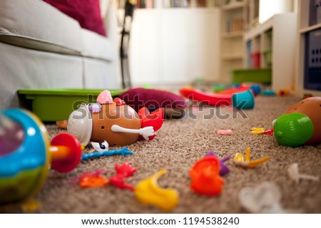 Messy Toy Room Royalty-Free Stock Photo #1194538240