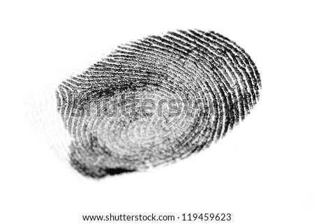 a fingerprint on white #119459623