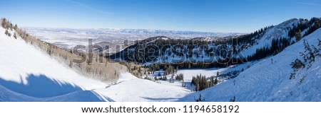 Ski/snowboard Backcountry - deserted area - backcountry bowl - park city, utah #1194658192