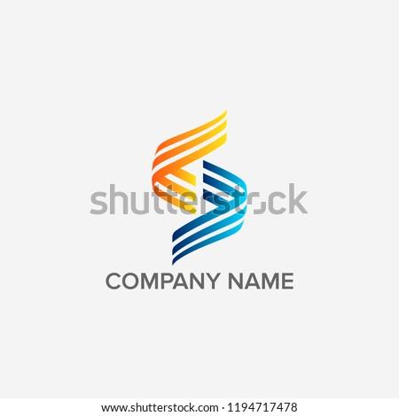 Letter S logo design #1194717478